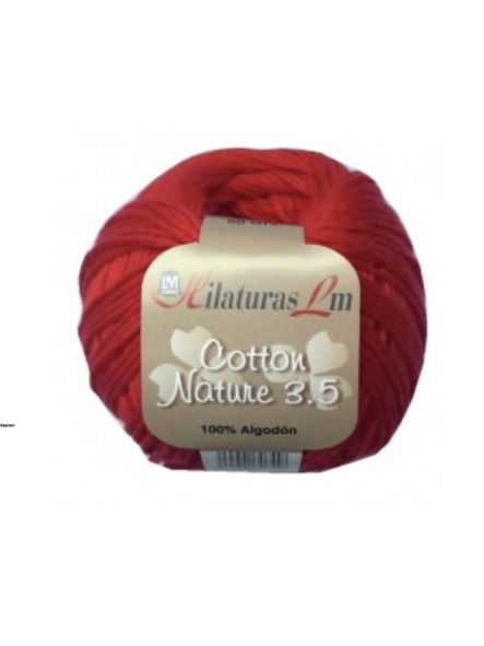 COTTON NATURE 2,5 4104  Rojo