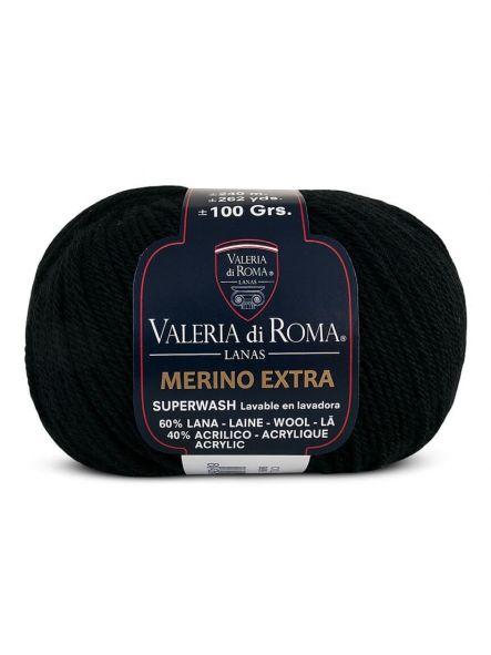 MERINO EXTRA Valeria di Roma col 999 Negro