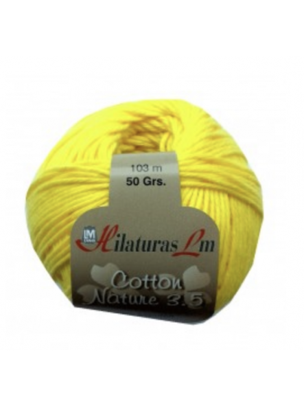 COTTON NATURE 2,5 4128 Amarillo fuerte