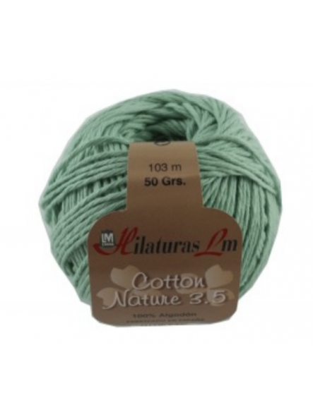 COTTON NATURE 3,5 4129 verde agua