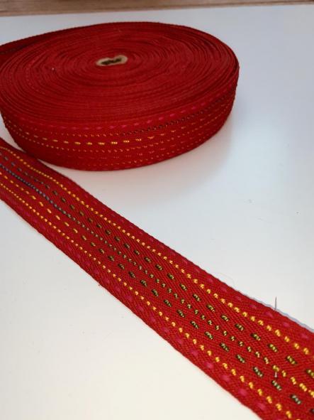 Cinta decorativa o asa de bolso Roja