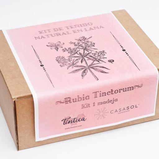 kit de teñido 2 madejas rosa tinctorum [1]