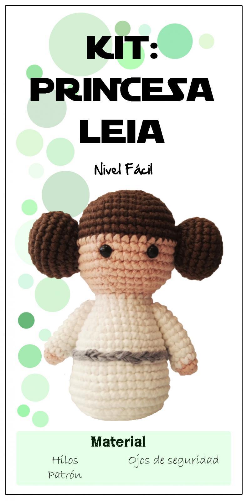 Kit Princesa Leia amigurumi