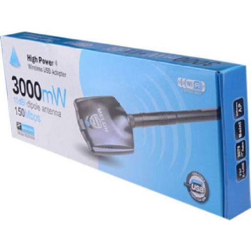 ANTENA WIFI CON USB 3000 MW