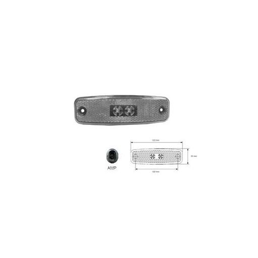 PILOTO LATERAL LED C/CONECTOR - ROJO