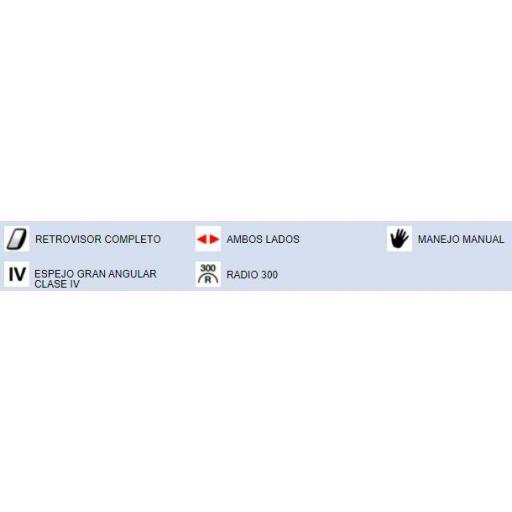 RETROVISOR GRAN ANGULAR COMPLETO DCHO./IZQDO. MANUAL RENAULT / DAF [2]