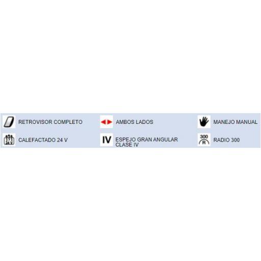 CRISTAL ESPEJO RETROVISOR GRAN ANGULAR DCHO./IZQDO. CALEFACTADO RENAULT / DAF [1]
