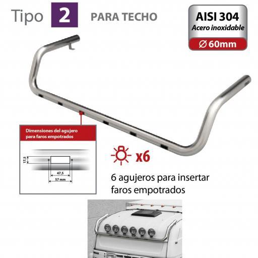 BARRA DE FARO PARA TECHO TIPO 2 MAN TGA (03/99 A 05/10)