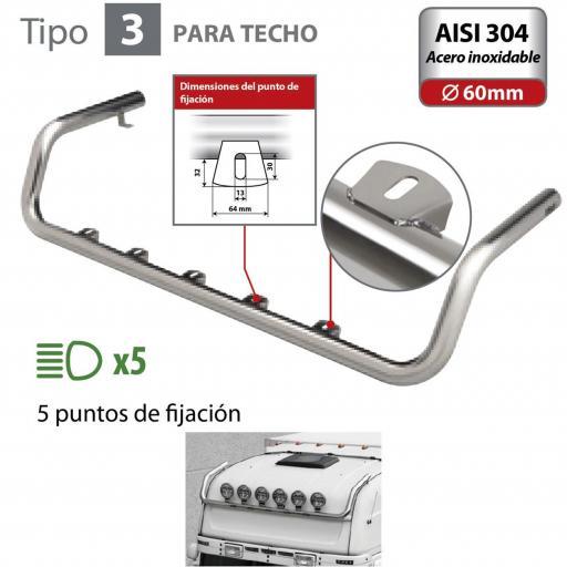 BARRA DE FARO PARA TECHO TIPO 3 MAN TGA (03/99 A 05/10)