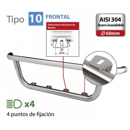 BARRA DE FARO FRONTAL TIPO 10 SERIE FH VOLVO 4 (09/12>)