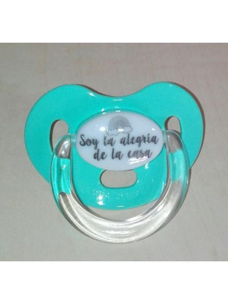 Chupete personalizado verde agua marina Boann 022