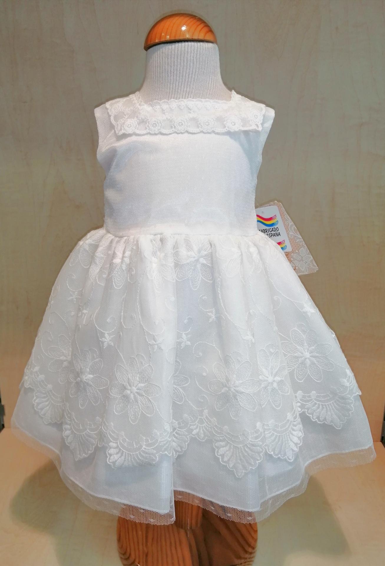 Vestido ceremonia y bautizo bebé