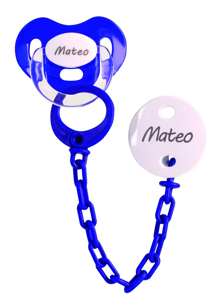 Chupete cadena personalizado azul Marino Boann 059
