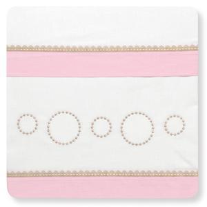 Sábanas cuna, minicuna, coche,  Bimbi Dots  blanca y rosa