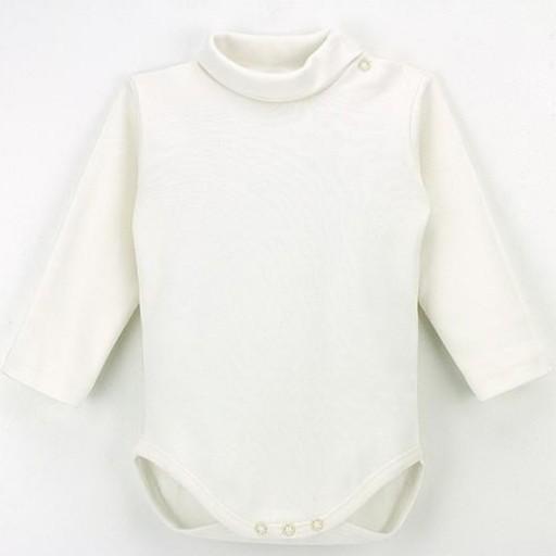 Body cuello vuelto manga larga para bebé [3]