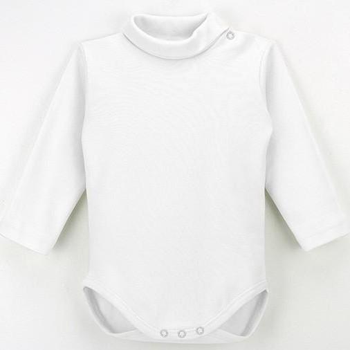 Body cuello vuelto manga larga para bebé