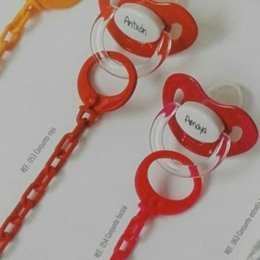 Chupete cadena personalizado Fucsia Boann 054 [3]