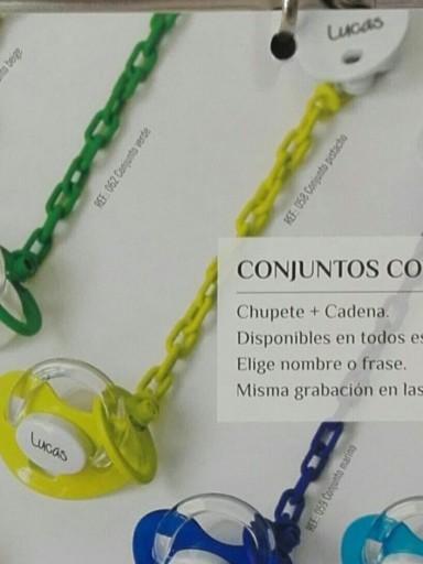 Chupete+Cadena Personalizado Pistacho Boann 058