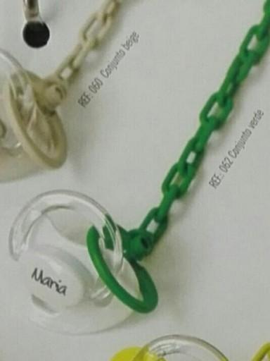 Chupete y Cadena Personalizado Verde Boann 062 [1]