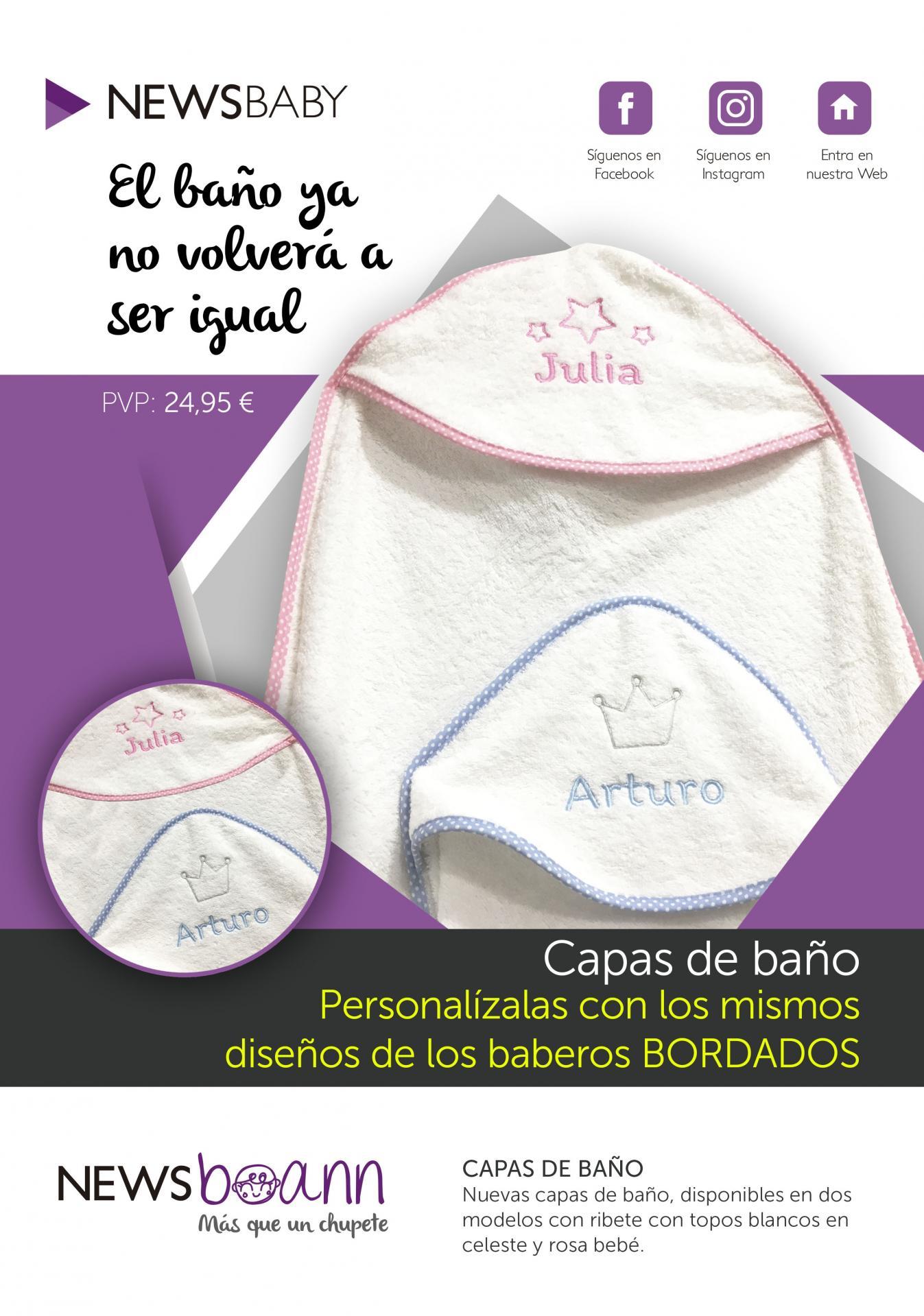 Capa baño de bebé personalizada Boann