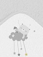 Capa de baño dulces sueños gris [1]