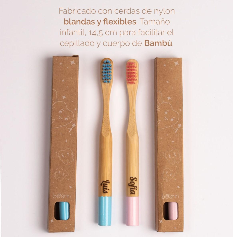 Cepillo dental bambú personalizado