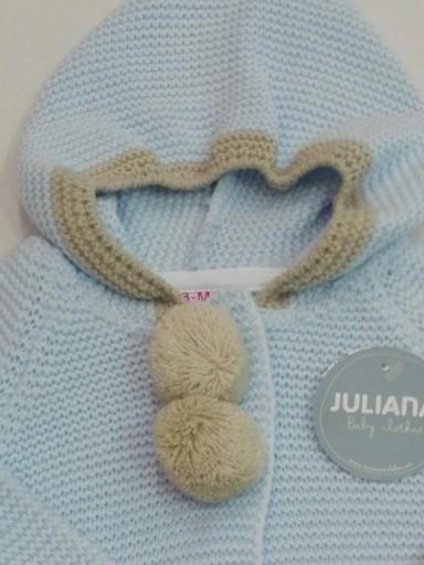 Chaqueta capucha pompones bebé [1]