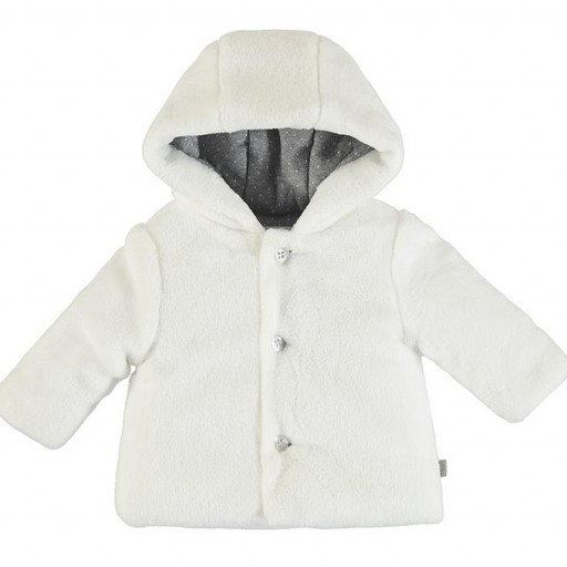 Chaquetón peluche bebé con capucha [1]