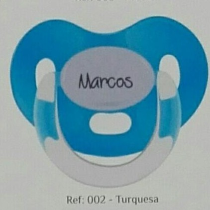 Chupete personalizado azul  turquesa Boann 002