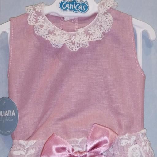 Conjunto camisa encaje de bebé niña [3]