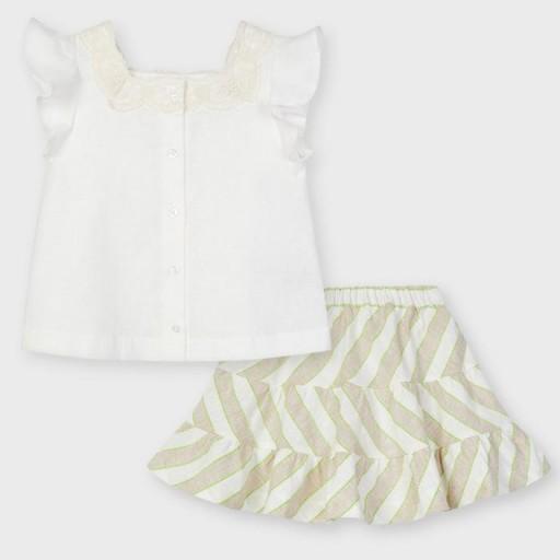 Conjunto niña falda rayas [1]