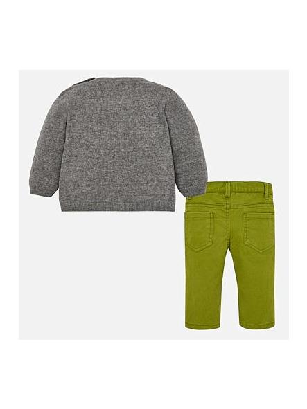 Conjunto bebe jersey tricot  Ceniza y pantalon Mayoral 2588 [1]