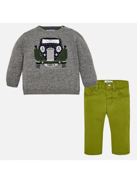 Conjunto bebe jersey tricot  Ceniza y pantalon Mayoral 2588 [0]