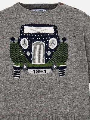 Conjunto bebe jersey tricot  Ceniza y pantalon Mayoral 2588 [2]