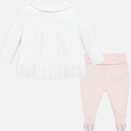 Conjunto bebé niña polaina y camiseta [1]