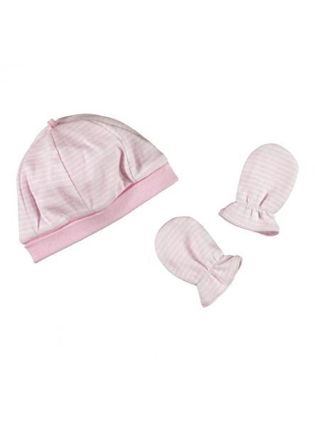 Conjunto gorro y manoplas bebé Mayoral rosa 19133
