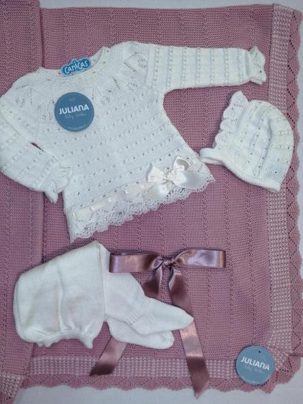 Conjunto Juliana recién nacido entretiempo