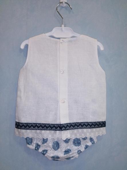 Camisa y braga tela bordada topos  [1]