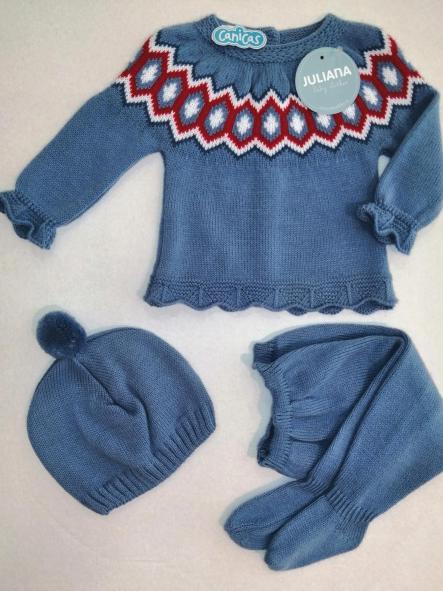 Conjunto invierno bebé cenefa