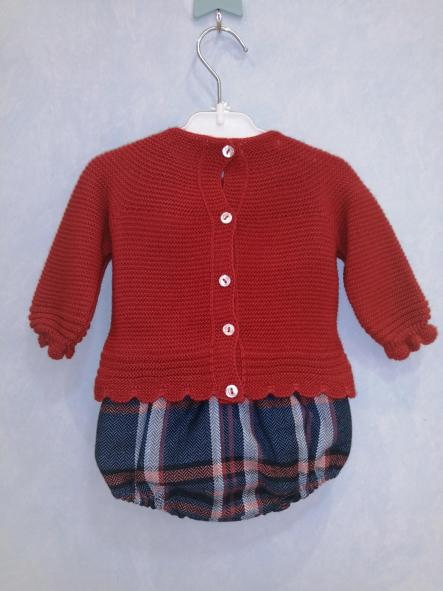 Conjunto Juliana jersey pantalón corto cuadros [1]