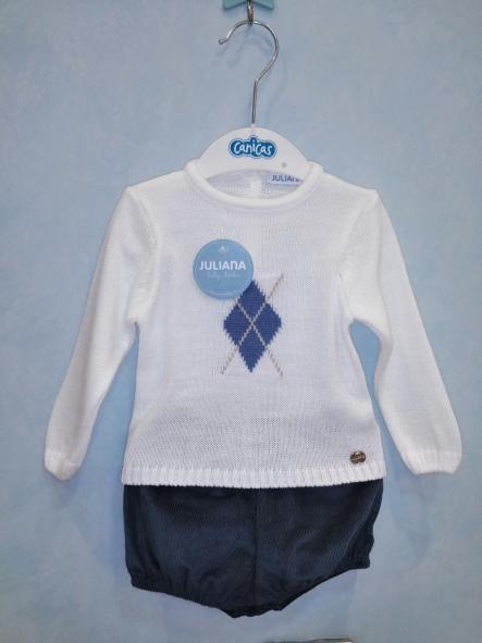 Conjunto pantalón corto y jersey rombo [0]