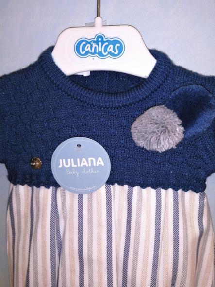 Vestido Juliana punto y rayas [2]