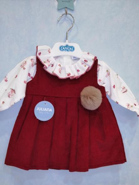Conjunto vestido pana pompón y camisa [2]
