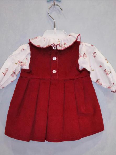 Conjunto vestido pana pompón y camisa [1]