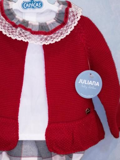 Conjunto Juliana rebeca roja camisa y braga cuadros [2]