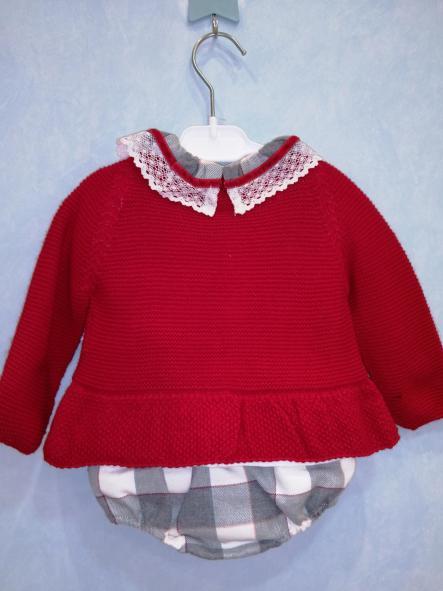 Conjunto Juliana rebeca roja camisa y braga cuadros [1]