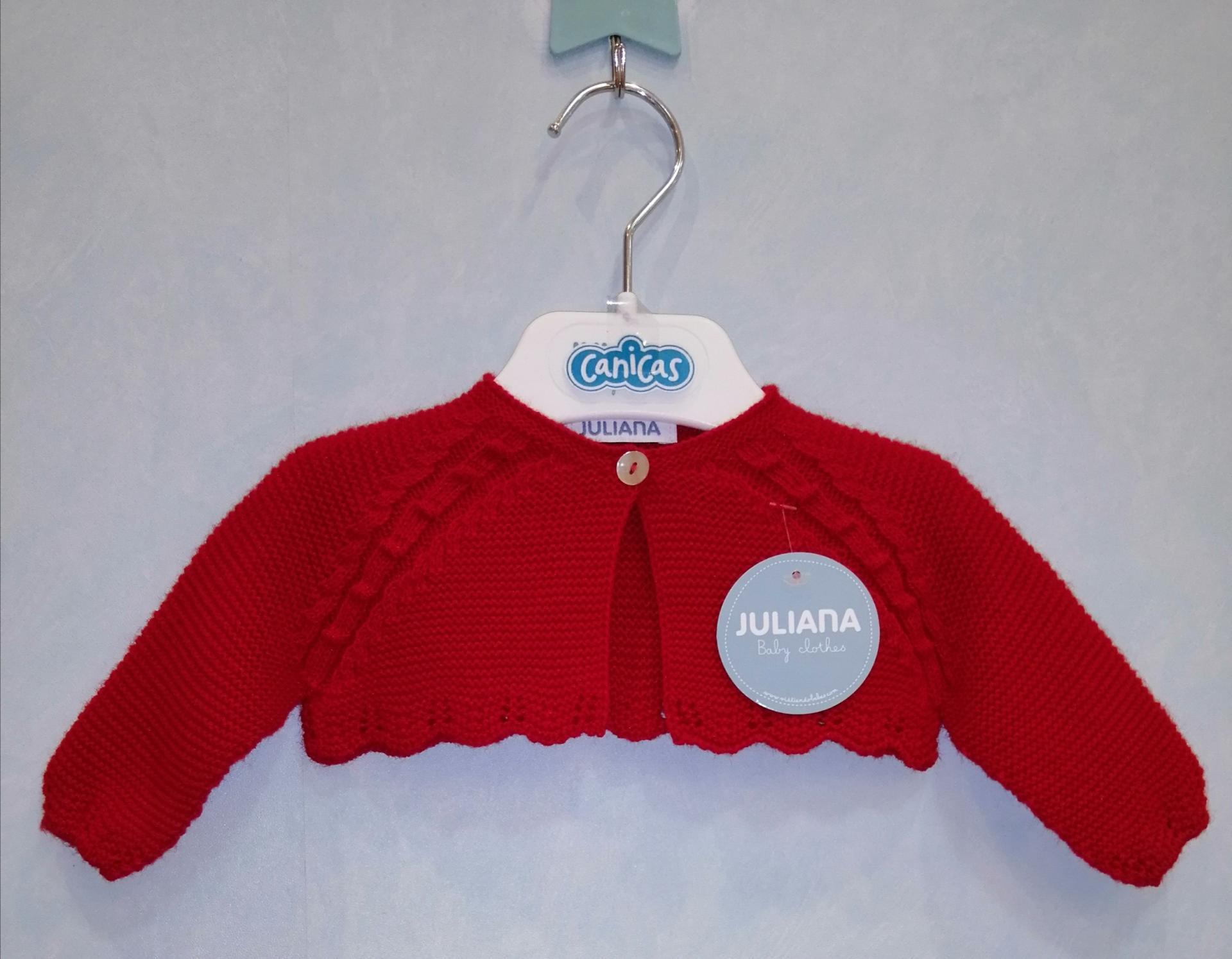 Rebeca corta Juliana bebé roja