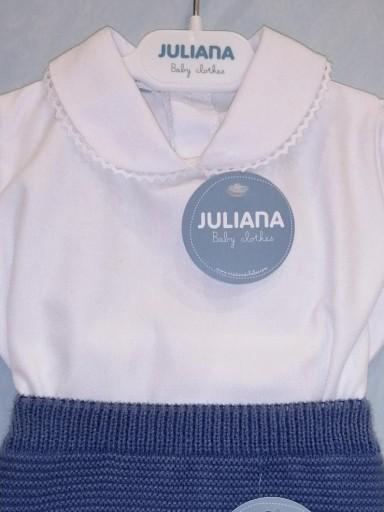 Conjunto Juliana camisa blanca y cubrepañal punto [1]