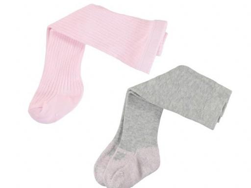 Leotardos recién nacida Mayoral  rosa y gris 9150