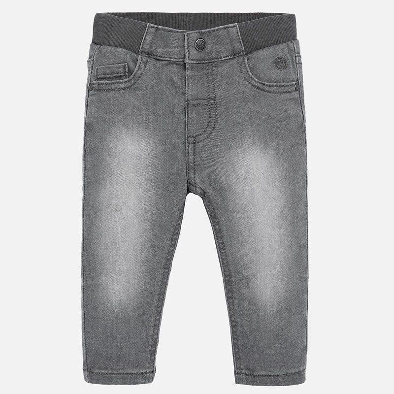 Pantalón tejano básico gris bebé Mayoral 30